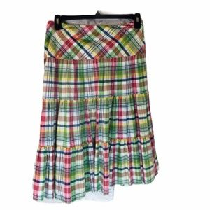 American Living Checkered Skirt